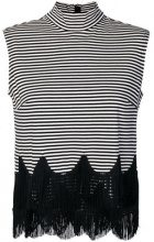 Marc Jacobs - Top con frange - women - Cotton/Rayon - XS, S, M, L - BLACK