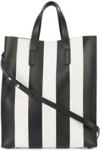Michael Kors Collection - striped tote bag - women - Goat Skin/Leather - OS - BLACK
