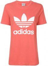 Adidas - T-shirt con logo - women - Cotton/Spandex/Elastane - 34, 36, 38, 40 - YELLOW & ORANGE