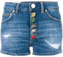 Dondup - Shorts con bottoncini decorati - women - Cotone/Polyester - 28, 29, 25, 26, 27 - BLUE