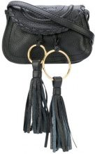 See By Chloé - Borsa a tracolla 'Polly' - women - Calf Leather/Cotone - OS - Nero