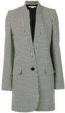Stella McCartney - Cappotto con fregio a dente di cane - women - Cotton/Spandex/Elastane/Viscose/Wool - 44 - BLACK