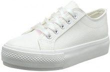 New Look Wide Fit-Maces, Scarpe Col Tacco Punta Chiusa Donna, White (White 10), 36 EU