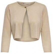 ONLY Short Knitted Cardigan Women Beige