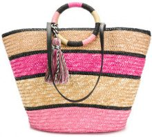 Rebecca Minkoff - Borsa Shopper - women - Straw - One Size - PINK & PURPLE