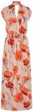Y.A.S Floral Maxi Dress Women Beige
