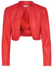 ONLY Leather Look Bolero Women Red