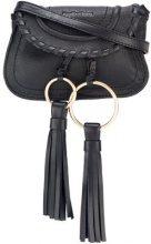 See By Chloé - Polly crossbody bag - women - Cotton/Calf Leather - OS - BLACK