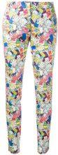 Ultràchic - Garbage print skinny trousers - women - Cotton/Spandex/Elastane - 40, 46 - MULTICOLOUR