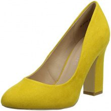 New Look Wide Fit-Rachona, Scarpe Col Tacco Punta Chiusa Donna, Yellow (Dark Yellow 87), 41 EU