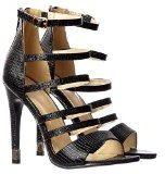 Onlineshoe da donna Gladiator Caviglia Cinturino Oro Tacco Consigli Tacchi Pompe