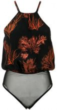 Andrea Marques - printed bodysuit - women - Silk/Polyimide/Polyester - 36, 46 - BLACK