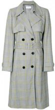 Christian Wijnants - checked belted trench - women - Cotton/Spandex/Elastane/Viscose - 36, 38, 40 - GREY