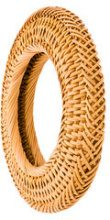 Cult Gaia - small circle rattan bangle - women - Bamboo - OS - NUDE & NEUTRALS