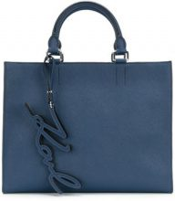 - Karl Lagerfeld - Borsa shopper 'Signature Essential' - women - Leather - Taglia Unica - Blu