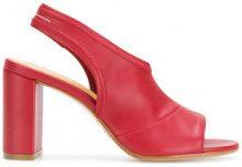 - Mm6 Maison Margiela - Sandali con cinturino posteriore - women - pelle/fibra sintetica - 36, 40, 37, 38 - di colore rosso