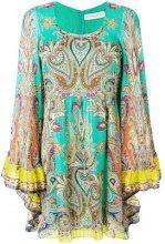 Etro - Vestito con motivo paisley - women - Silk - 38 - GREEN