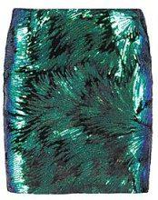 Cassie Velvet Irridescent Mini Skirt