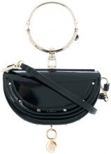 Chloé - Minaudiere Nile bag - women - Patent Leather/Leather - OS - BLUE