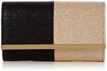SwankySwans Sam Glitter Color Block - Pochette da giorno Donna, Nero (Black Champagne), 6.5x13.2x22.4 cm (W x H x L)