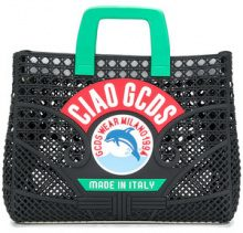 Gcds - Ciao tote bag - women - plastic - One Size - BLACK