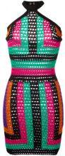 Balmain - patterned halterneck crochet dress - women - Polyamide/Viscose - 34, 36 - MULTICOLOUR