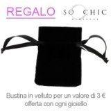 So Chic Gioielli - Bracciali Rigido Donna Marrone Stampato Modo Legno di Coco