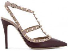 Valentino - Pumps con cinturino alla caviglia - women - Leather - 35, 35.5, 36, 36.5, 37, 37.5, 38, 38.5, 39, 39.5, 40, 41 - PINK & PURPLE
