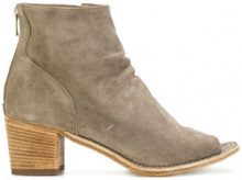 Officine Creative - open toe ankle boots - women - Leather/Calf Suede - 36, 36.5, 37, 37.5, 38, 38.5, 39, 39.5, 41 - NUDE & NEUTRALS