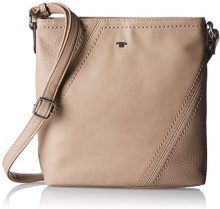 Tom Tailor Acc Hedi Donna Borse a tracolla Beige (Taupe) 5.5x24.5x24 cm (B x H x T)
