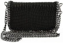 Borsa a tracolla Dream Leather Bags Made In Italy  Borsa Donna In Pelle Stampata Cocco Colore Nero - Pelletteria To