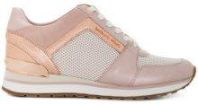 Michael Michael Kors - Sneakers 'Billie' - women - Nylon/Leather/Polyester/rubber - 6, 7, 7.5, 8, 8.5, 9, 9.5, 10, 11 - PINK & PURPLE