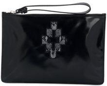 Marcelo Burlon County Of Milan - Clutch 'Cross' - women - Cotton/Polyester/Polyurethane - One Size - BLACK