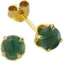 Fascination by Ellen K. - Orecchini a perno, Smeraldo, Oro giallo 8 carati (333)