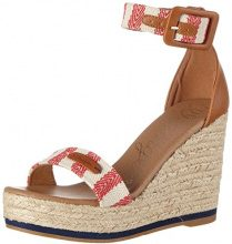 WranglerKay Sandal Stripes - Sandali Donna , rosso (Rot (RED/OFF WHITE)), 40 EU