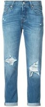 Levi's - Jeans sdruciti dritti - women - Cotton/Viscose - 24, 25, 26, 27, 28, 29, 30 - BLUE