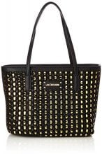 Love Moschino Borsa Calf Pu Nero/gold - Borse Tote Donna, Multicolore (Black-gold), 12x26x40 cm (B x H T)