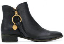 See By Chloé - Stivaletti con zip - women - Leather - 36, 37, 38, 37.5 - Nero