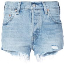 Levi's - 501 denim shorts - women - Cotone - 28 - Blu
