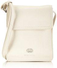 Gerry Weber Los Angeles II Flap Bag XS, Borsa A Tracolla da Donna, bianco(Weiß (offwhite)), 16x18x4 cm (B x H x T)