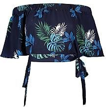 Gracie Woven Floral Tie Side Bardot