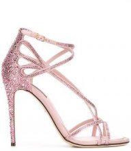 Dolce & Gabbana - Keira sandals - women - Viscose/glass/Leather - 37, 39, 40 - PINK & PURPLE