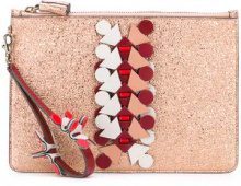 Anya Hindmarch - Prism large pouch clutch - women - Calf Leather - OS - Rosa & viola