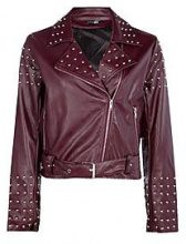 Rebecca giacca borchiata in stile motociclista