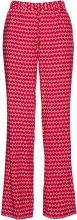 Pantalone in viscosa fantasia con elastico (Rosso) - bpc selection