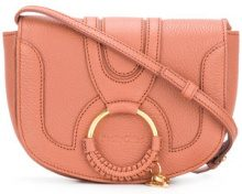 See By Chloé - Borsa Hana - women - Goat Skin/Cotone/Calf Leather - One Size - PINK & PURPLE