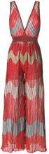 M Missoni - Tuta stampata - women - Polyamide/Cotton/Metallic Fibre/Polyester - 44, 46, 38, 40, 42 - YELLOW & ORANGE