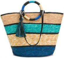 Rebecca Minkoff - Borsa Shopper intrecciato - women - Straw - OS - BLUE