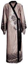 Aimee vestaglia da notte di raso con motivo cachemire stile maxi kimono