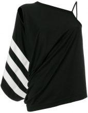 Y-3 - Blusa con spalle scoperte - women - Cotone - S, XS, M - Nero